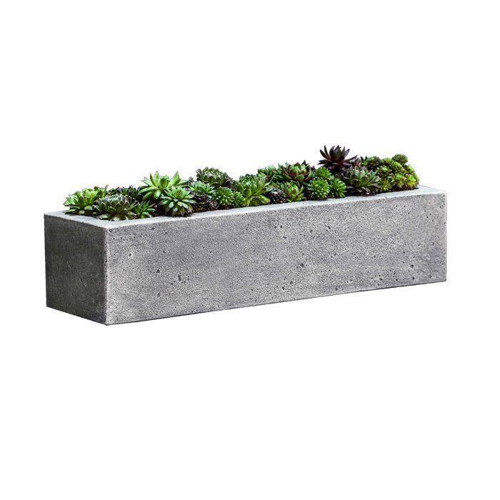 Garden Terrace Stone Planter Box 5 D X 21 L Cement Stone Planters Long Planter Planters