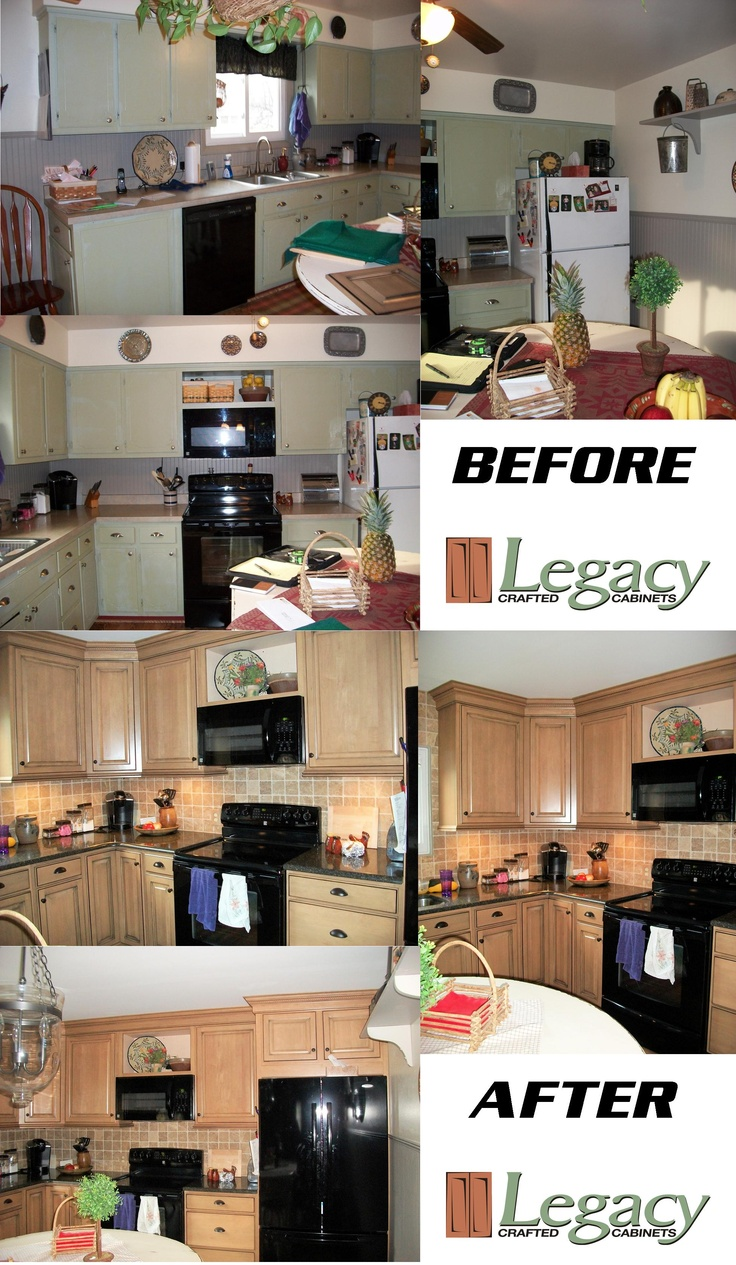 Kitchen craft cabinets atlanta - Real Kitchen Before And After Pictures Visit Us At Www Legacycrafted Com