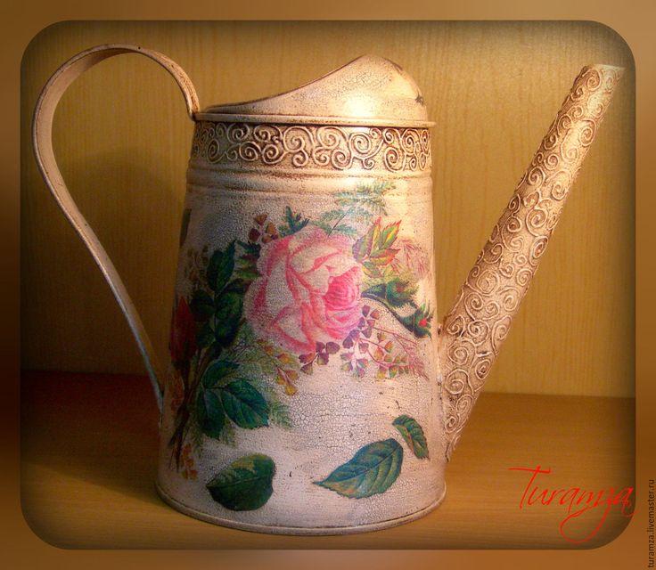 Купить Лейка - лейка, лейка декупаж, лейка для цветов, лейка для полива цветов, лейка садовая