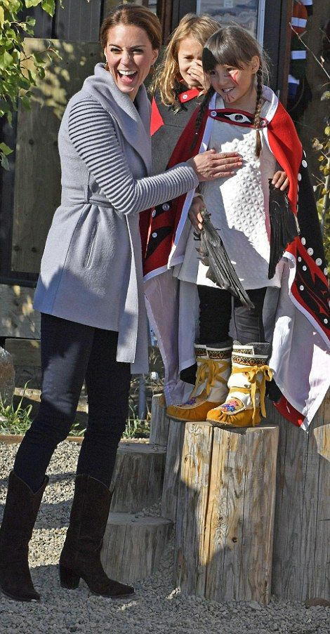 Kate Middleton and Prince William have an early start in Canadian town of Whitehorse | Daily Mail Online