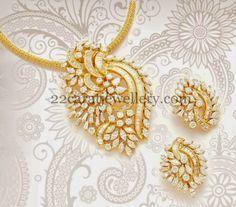 Jewellery Designs: Classic Diamond Pendant with Tops