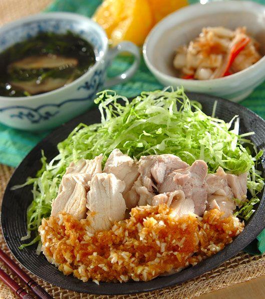 「ゆで鶏・ネギソース」の献立・レシピ - 【E・レシピ】料理のプロが作る簡単レシピ/2014.05.27公開の献立です。