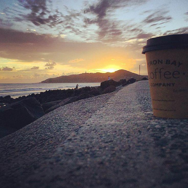 Sunrise in Byron Bay. A cup of Byron Bay Coffee Company is essential.  www.byronbaycoffeeco.com.au