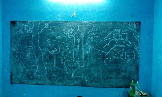 Drawing Halloween theme @ Manju Kayal Foundation