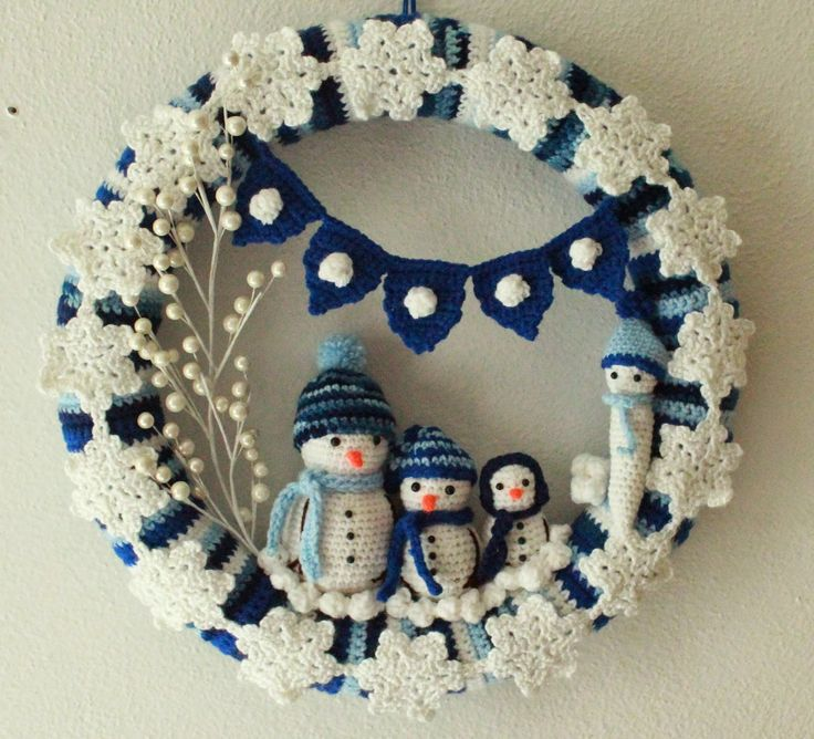 I've made 4 seasonal wreaths, so far. This is rather addicting, as is crochet in general. I made one for spring and summer, another one for...