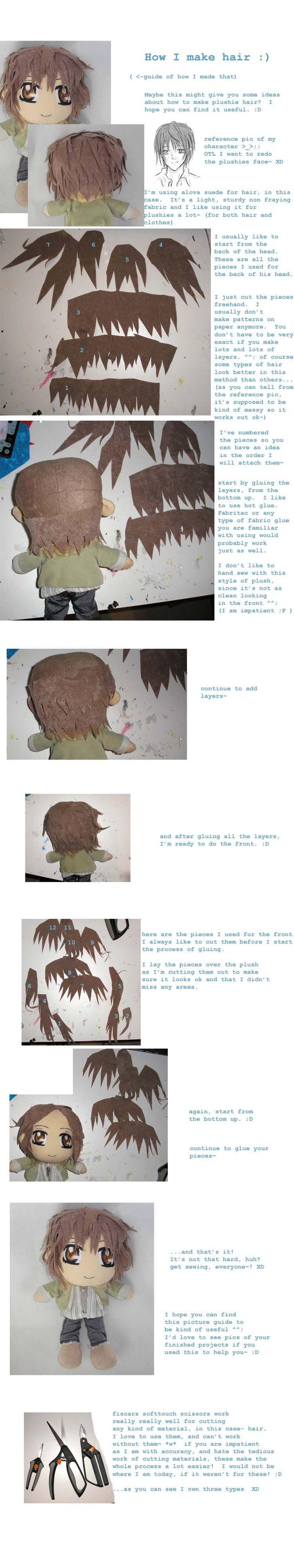 Plushie hair guide pt. 1 by ichigo-pan43.deviantart.com on @DeviantArt