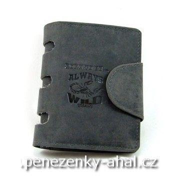 Pánská peněženka kožená s vyříznutým hřbetem. Značka Always Wild je zárukou kvality.