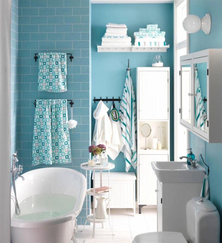 badezimmer blau dekorieren - Badezimmer Dunkelblau
