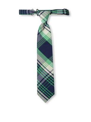40% OFF Urban Sunday Kid's Cleveland Neck Tie (Blue/Green Plaid)