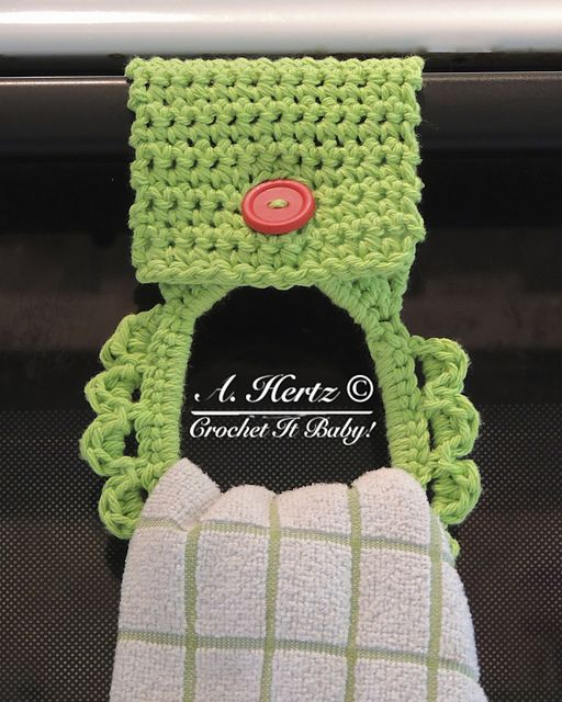 Towel Holder: free pattern #crochet