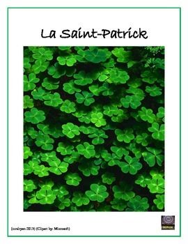 French  - Saint Patrick's Day Activities – La Saint-Patrick
