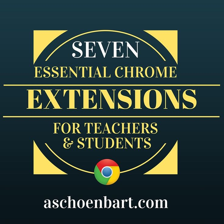 The Schoenblog: Seven Essential Chrome Extensions for Teachers and Students