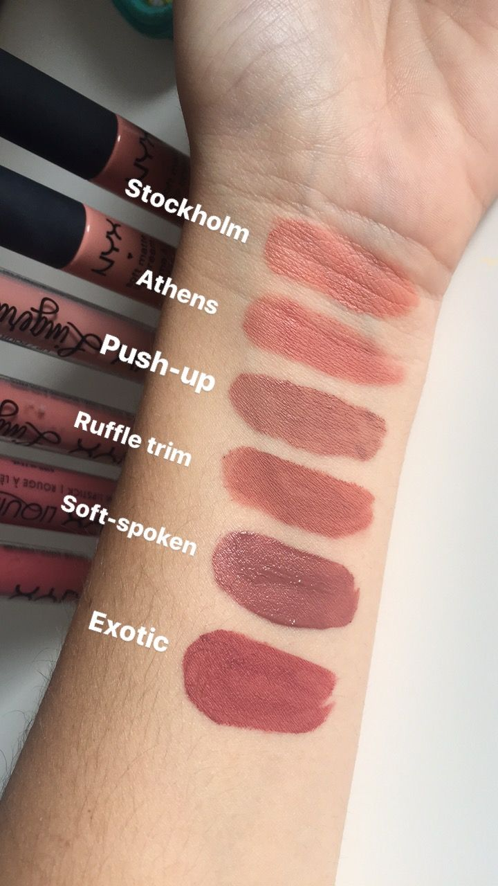 Nyx nudes in different formulas
