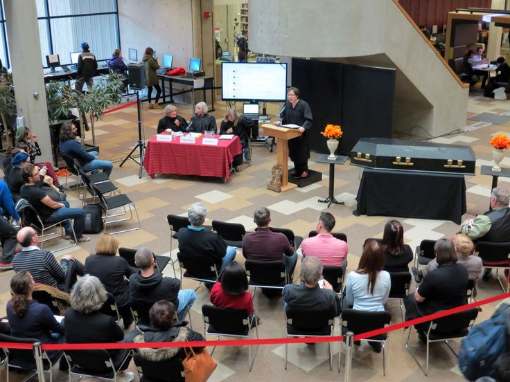 Mourners - Death of Evidence in #Canada, Oct.22 #YorkU #RIPevidence #OAweek