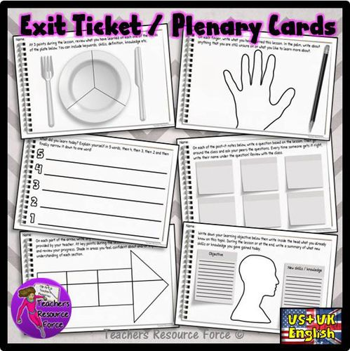 These exit tickets are a great way for students to summarise what they have learned during your lesson in a fun and relatable way! They also provide you wi...