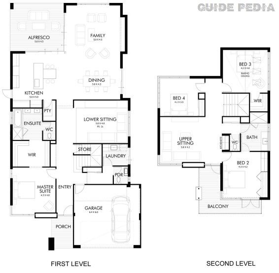Amazing Design For Beautiful Modern two-story house | Guide Pedia | Fashion Trends, Interior Design and Exterior Design