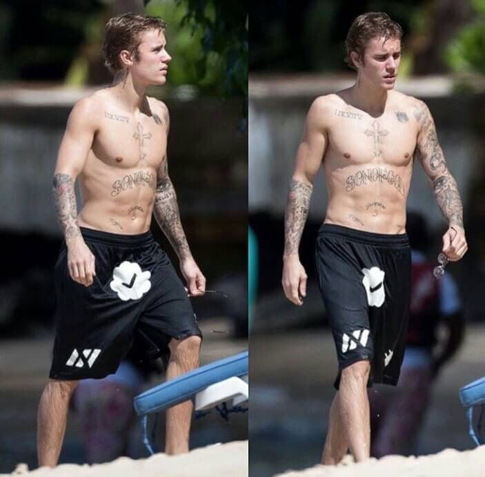 Justin vacation in barbados