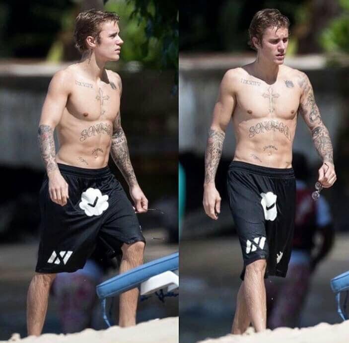 Justin vacation in barbados