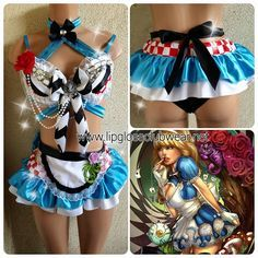 Alice in Wonderland Inspired Adult Exotic Outfit by LipglossWear