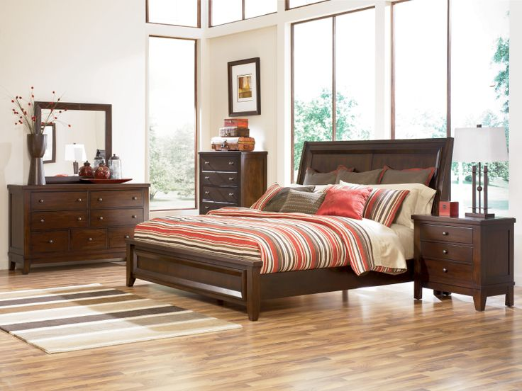 Holloway Bedroom Collection Bed Available In Queen Or King Dresser Mirror
