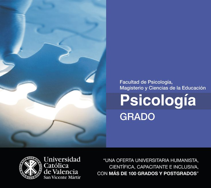 #Grado en #Psicología de la #UCV #presencial. #FuturoUCV #TuGradoUCV