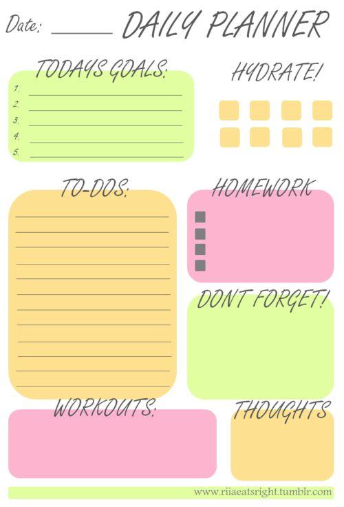 1000+ ideas about Homework Planner Printable on Pinterest ...