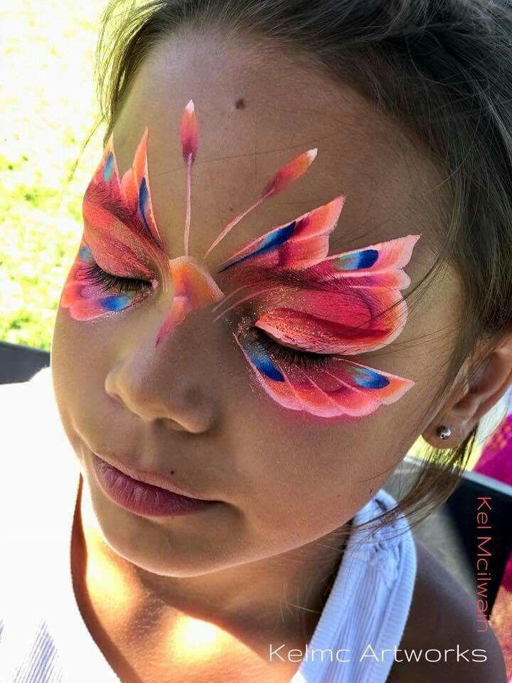 Pin Von Talisa T Auf Face Paint Butterflies Kinderschminken Kinder Schminken Schminken
