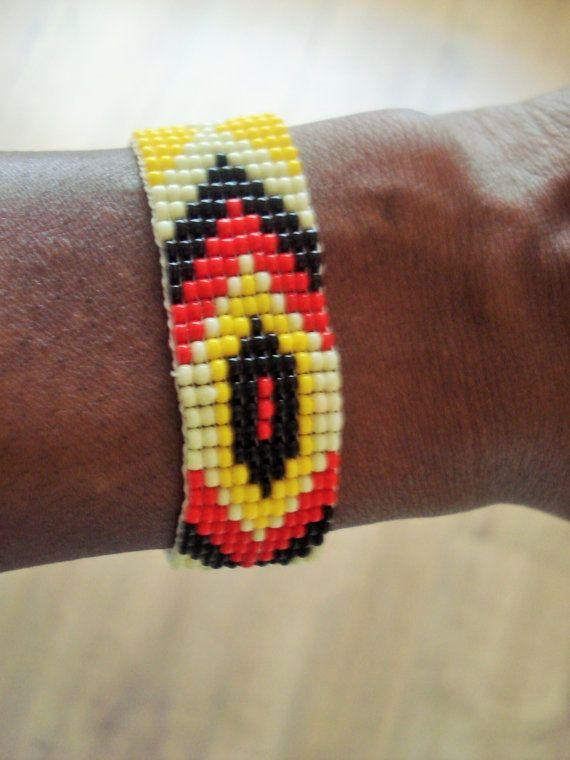 Aztec Bracelet, Beaded Bracelet, Chaquira Bracelet, Geometric Necklace, Multi Coloured Necklace, Boho Bracelet, Tribal Bracelet
