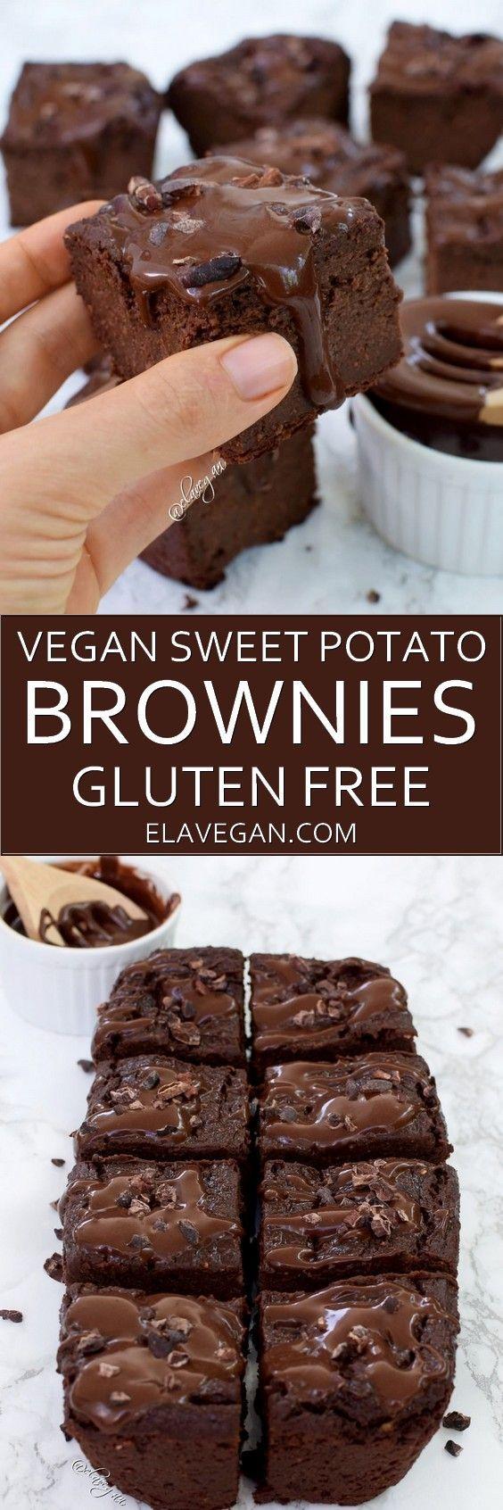 vegan sweet potato brownies pinterest