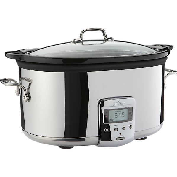 The slow cooker takes an upscale gourmet turn with this smart stainless version from @allclad with the longest cook-time on the market (26 hours).