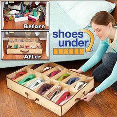 $9 for Under Shoe Storage Organizer   DrGrab