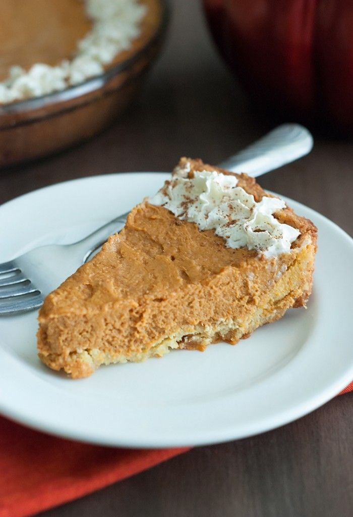 This low carb pumpkin pie will have you feeling guilt free while still indulging this holiday season.