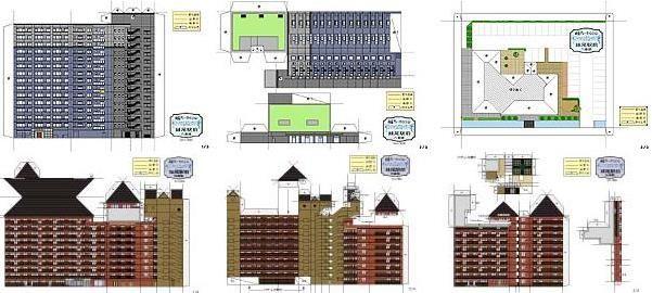 Papermau Four Japanese Buildings Paper Models In 1 300 Scale By Tatemono Japanese Buildings Paper Models Paper Buildings