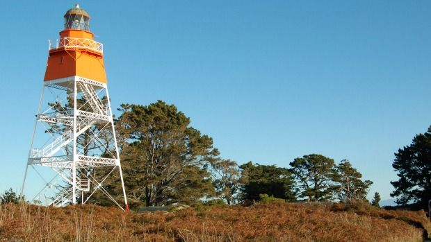 The newly refurbished Farewell Spit Lighthouse