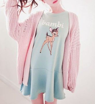 dress kawaii cute bambi