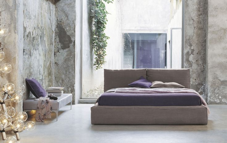 Twils Bett Piuma - erdige Tönen, feinste Stoffe sorgen im Schlafbereich für Wohlbefinden und außergewöhnlichem Designcharme - entdecken bei Daunenspiel