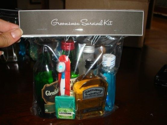 groomsmen survival kit by tracie