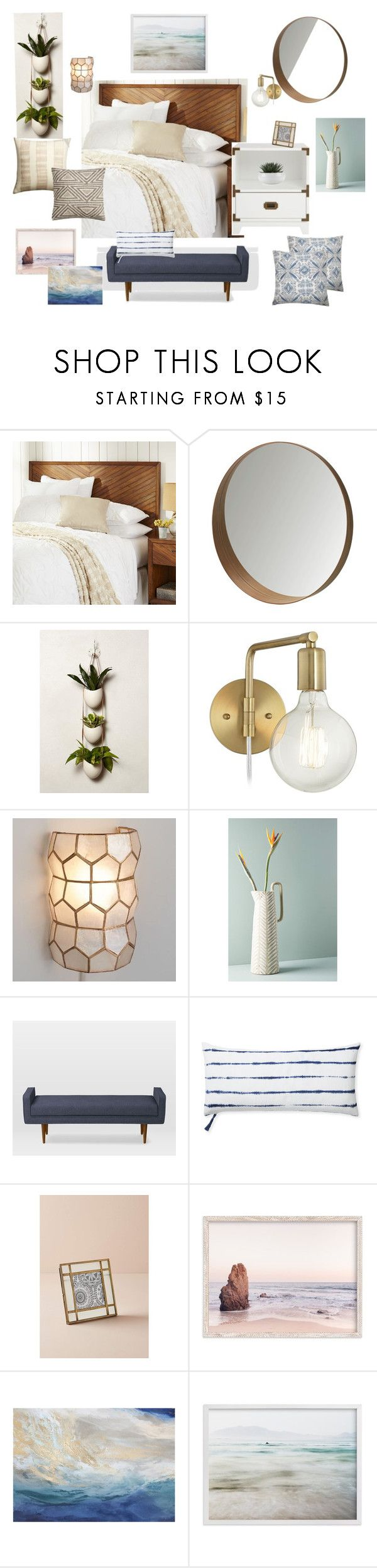 """""""Corte Madera Master 2"""" by noelkvis on Polyvore featuring interior, interiors, interior design, home, home decor, interior decorating, Pier 1 Imports, Light + Ladder, Anthropologie and Serena & Lily"""