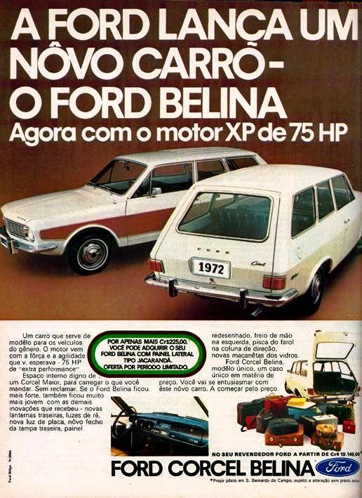 Anúncio Ford Corcel Belina - 1971