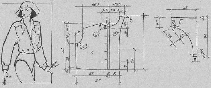 Блузка-комбидрес Размер 46 (168-92-98) Для пошива блузки-комбидреса потребуется:  Набивной крепдешин 1,70 м шириной 114 см; однотонное трикотажное полотно-эластик 0,45 м шириной 140 см (для трусов используют только эластичный материал); флизелин; 3 большие и 2 маленькие пуговицы; резинка 2,20 м шириной 3 мм; 3 маленькие кнопки; подплечники формы реглан.
