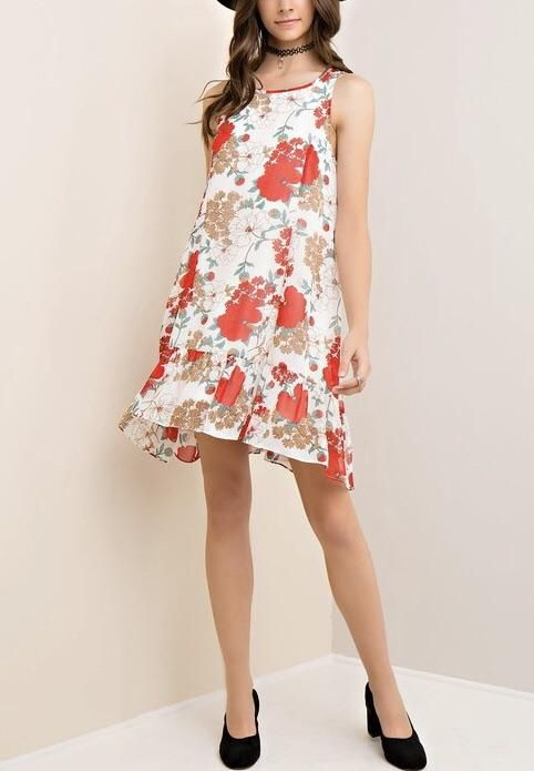 5e17fd832e Floral Print Princess Dress. Floral Print Princess Dress Drop Waist, Cold  Shoulder ...