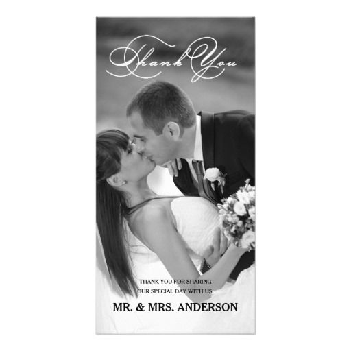 Script Wedding Thank You Photo Card By Designer Elke Clarke For The