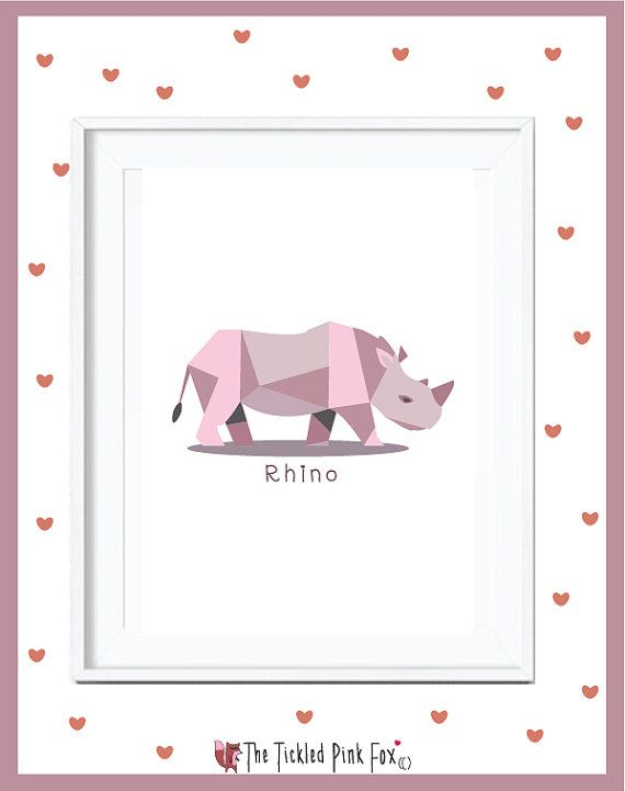 Save Our Rhinos poster by thetickledpinkfox on Etsy