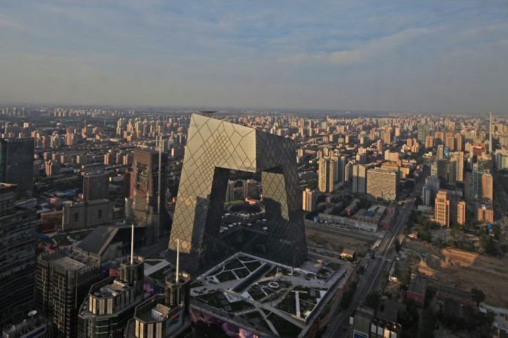 OMA Koolhaas CCTV - HEADQUARTERS, CHINA, BEIJING, 2002  New headquarters for China Central Television. Competition. 1st Prize