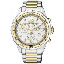 Citizen Eco-Drive Ladies Dress Chronograph FB1354-57A: Star Jewels