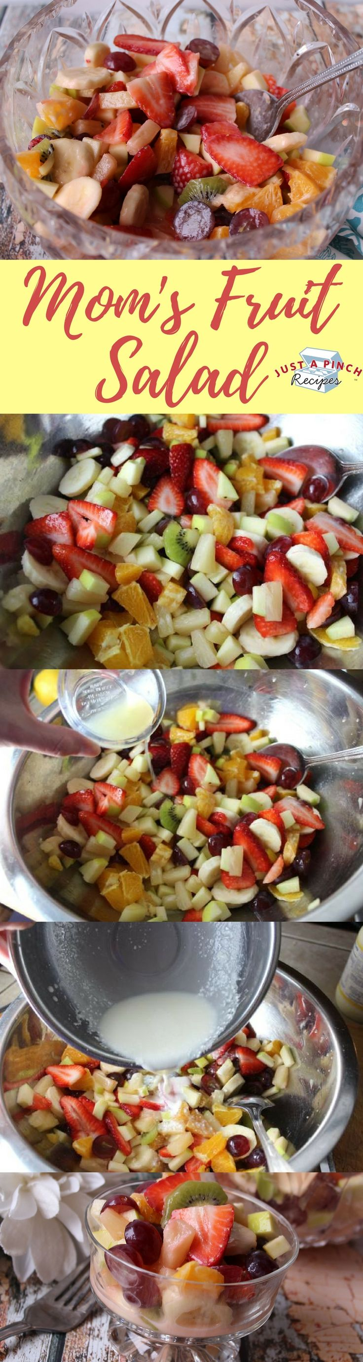 This is a really simple fruit salad spotlighting more citrusy flavors. The sauce is really thin and the perfect balance of sweetness with a touch of savoriness.