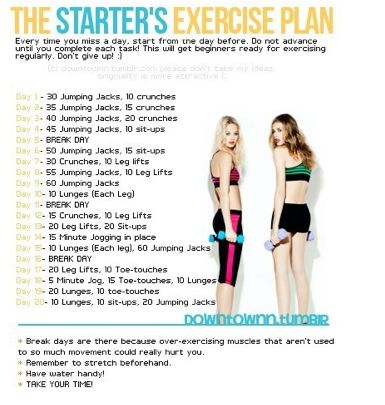 The Starter's Exercise Plan. Home work out for the dormant type.