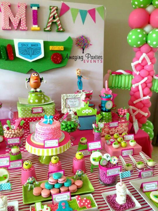Toys For Birthday Party : Such a cute twist on toy story for girl birthday
