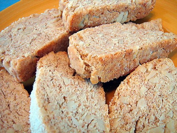 The Best Almond Biscotti - can make vegan by substituting flax meal for eggs. Can also replace 1 cup of all purpose flour with 1 cup of instant oatmeal to make them a bit healthier.