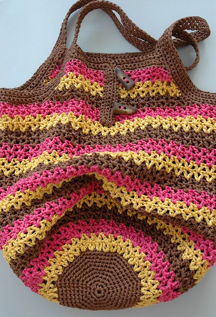Market bag, Crochet and Crochet bags on Pinterest